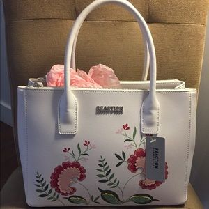 Kenneth Cole Embroidered Tote Purse